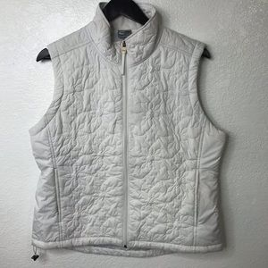 Champion Athletic White Quilted Vest